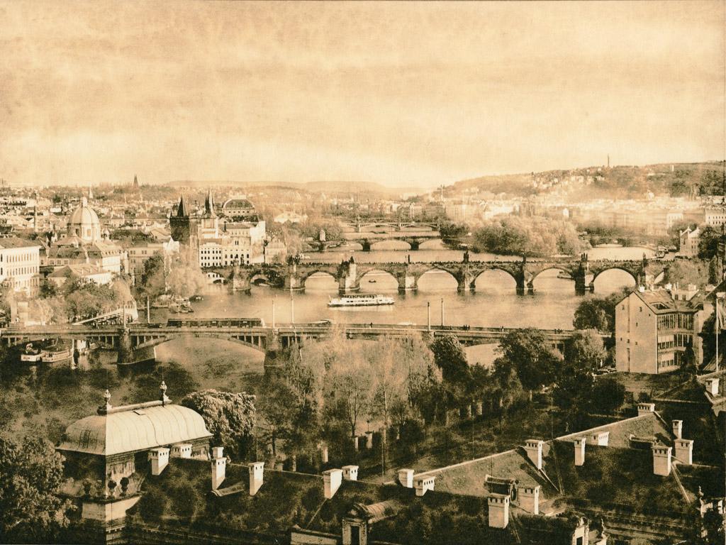 Prague Bridges - a lith print using the Ansco 70 developer